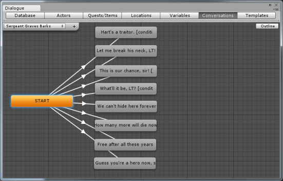 how to create a line in unity through script