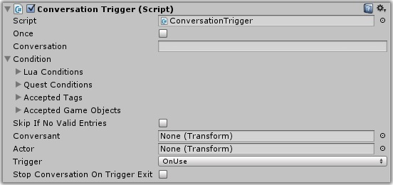 unity how to set up a trigger