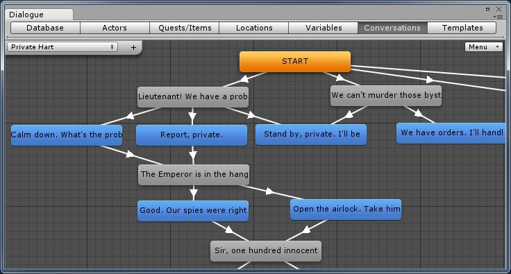 Dialogue System For Unity Dialogue Editor