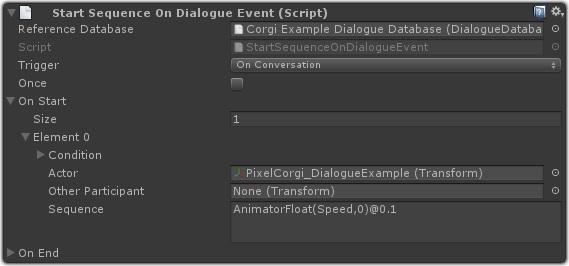 Dialogue System for Unity: Corgi Engine