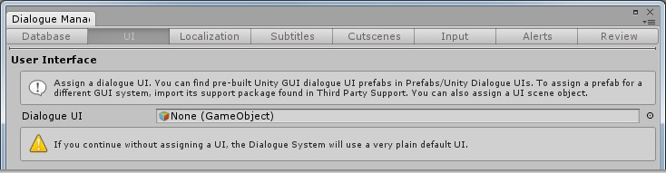 Dialogue System for Unity: Quick Start Tutorial