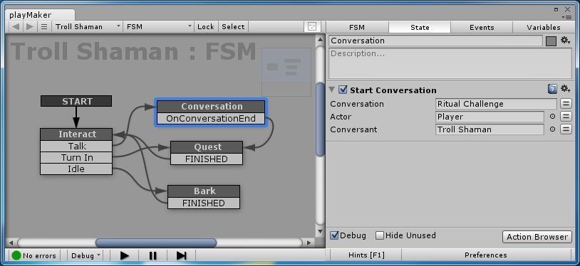 Dialogue System for Unity: PlayMaker