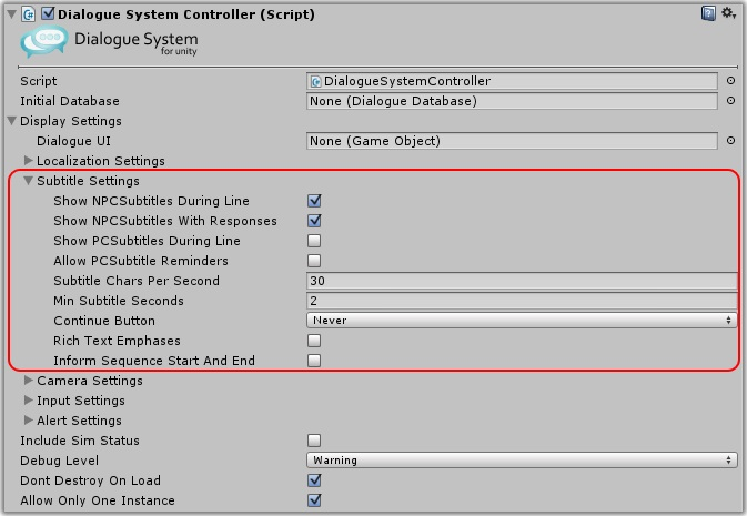 Dialogue System for Unity: How to Set Up the Dialogue Manager