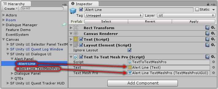 Dialogue System for Unity: Text Mesh Pro