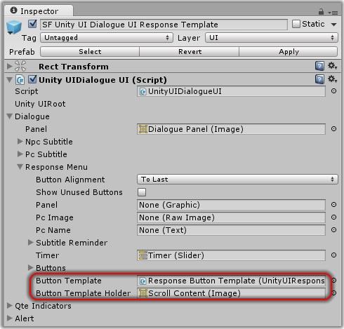 Dialogue System for Unity: Unity UI Dialogue UI
