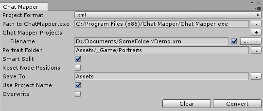 Dialogue System for Unity: Chat Mapper