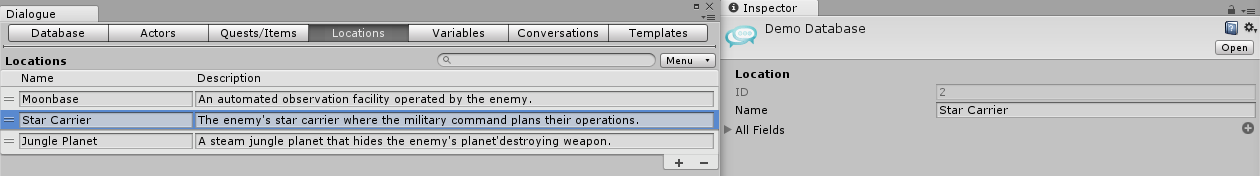 Dialogue System for Unity: Dialogue Editor