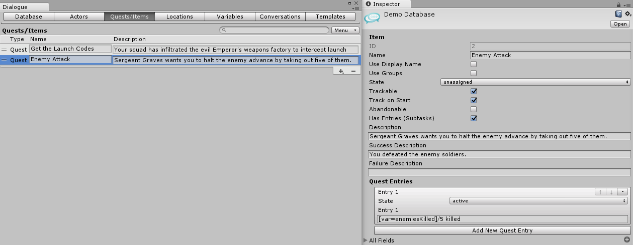 Dialogue System for Unity: Dialogue Editor