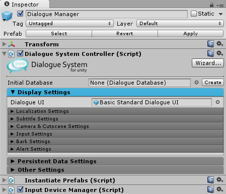 Dialogue System for Unity: Dialogue Manager