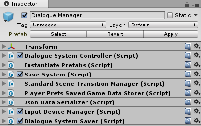 Dialogue System for Unity: Save System