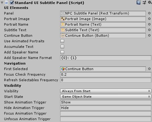 Dialogue System for Unity: Dialogue UI Tutorial