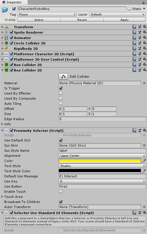 Dialogue System for Unity: Interaction Tutorial